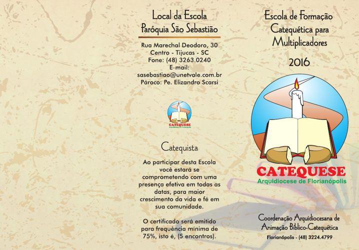 Folder da Escola de Formação Catequética 2016