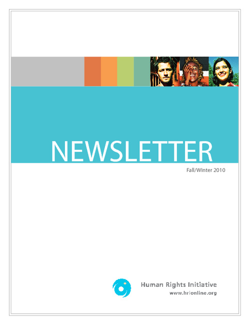 Newsletter Fall/Winter 2010