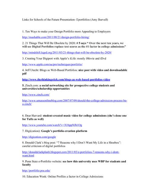 Digital Portfolio and Online Branding links