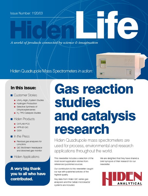 Hiden Life 1120/03 | Gas Reaction Studies and Catalysis Research