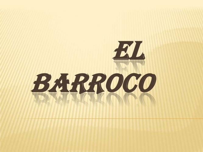 Barroco - Comunicacion