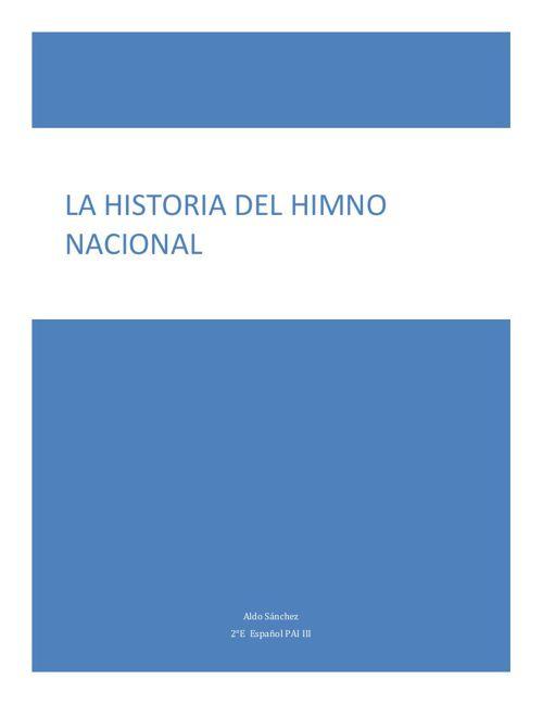 Aldo Cuento Historia del Himno Nacional