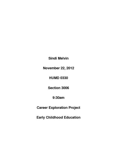 Sindi Melvin Career Project
