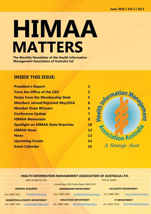 HIMAA Matters - June 2016