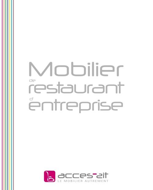 Catalogue mobilier restaurant entreprise