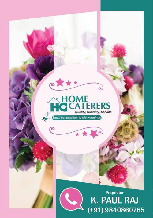 Home Caterers Brochure