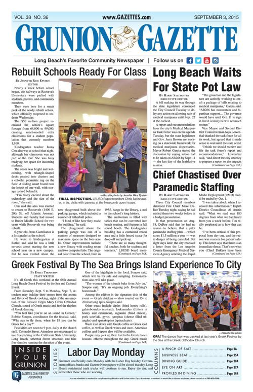 Grunion Gazette | September 3, 2015