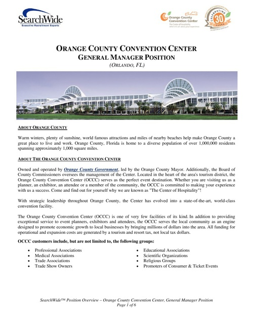 OCCC Position Overview