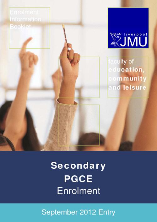 Secondary PGCE