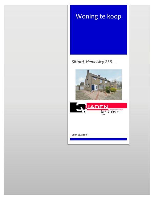 Quaden Makelaars Sittard, Hemelsley 236
