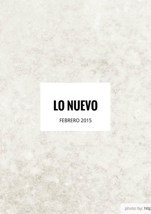 Nuevas Adquisiciones 14-03-2015
