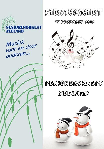 Kerstconcerten Seniorenorkest Zeeland 2012