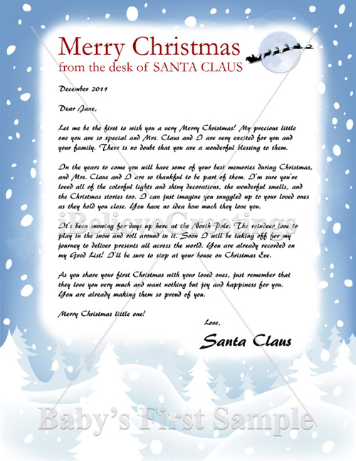 Santa Letter Samples