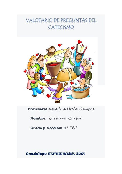 Balotario de Preguntas del Catecismo