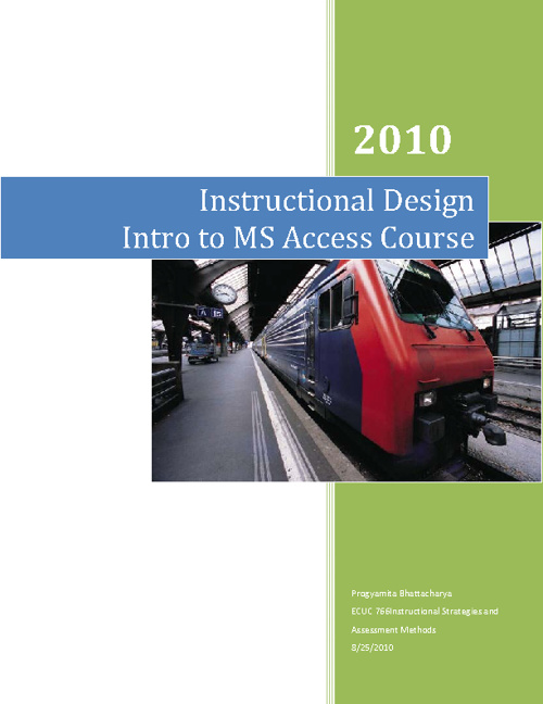 My Instructional Design Sample 1