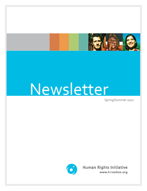 Newsletter Spring/Summer 2012