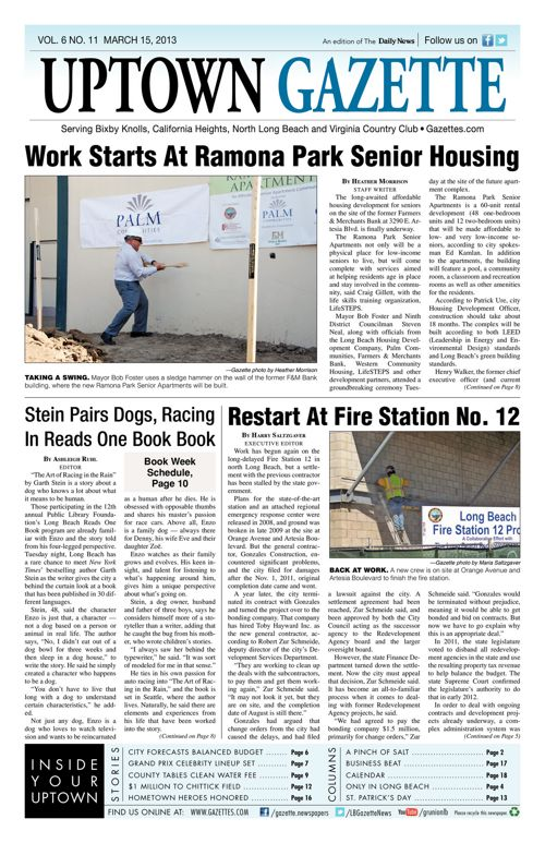 Uptown Gazette     March 15, 2013