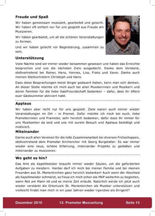 Musizeitung 2010 (Teil 2)