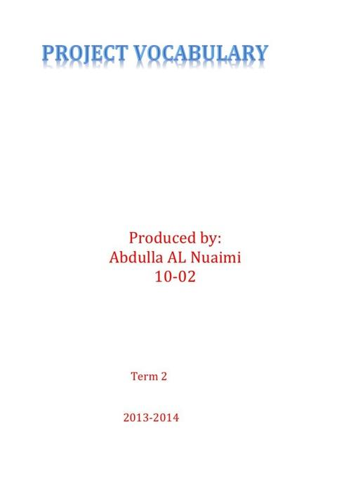 project Abdulla AL nuaimi 10-2