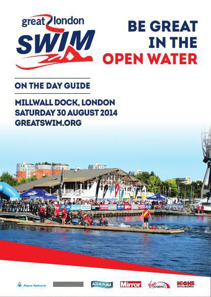 Great London Swim 2014 - A6 On The Day Guide