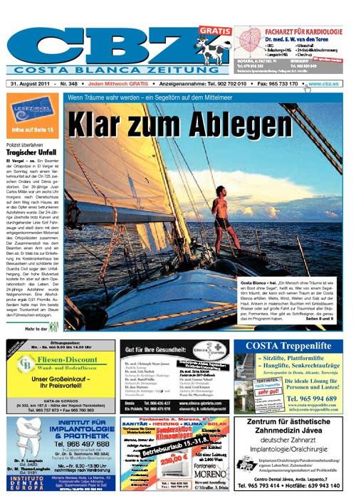 Costa Blanca Zeitung, 31.08.2011