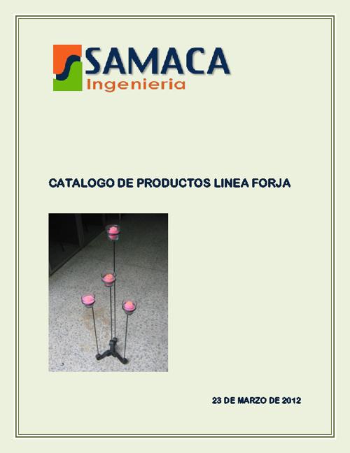 CATALOGO DE PRODUCTOS LINEA FORJA
