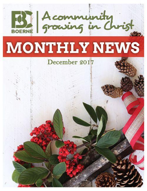 FBC Boerne December 2017 Newsletter