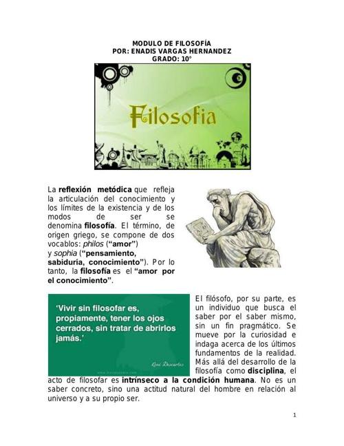 MODULO DE FILOSOFÍA