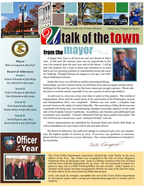 talk of the town - January 2014 web version
