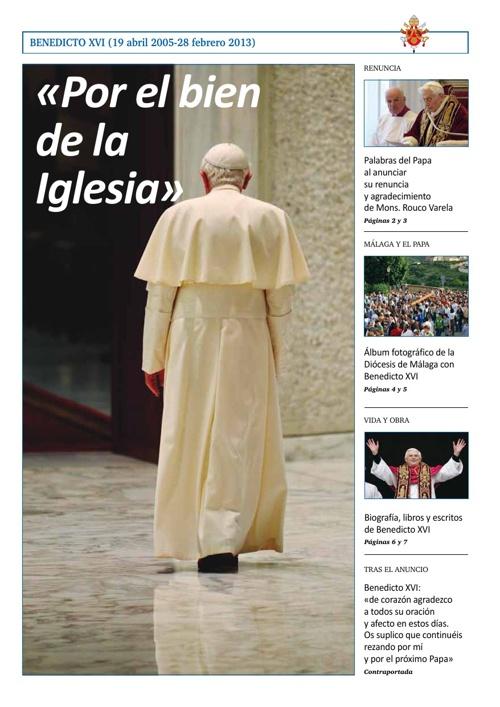 Especial renuncia del Papa