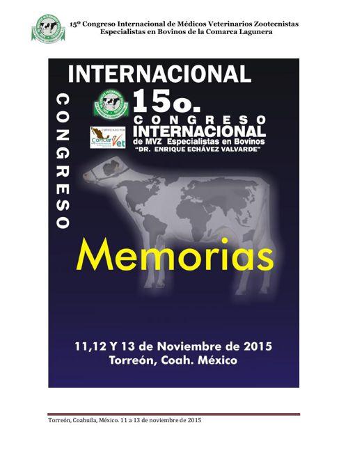 Memorias AMVEB Laguna 2015