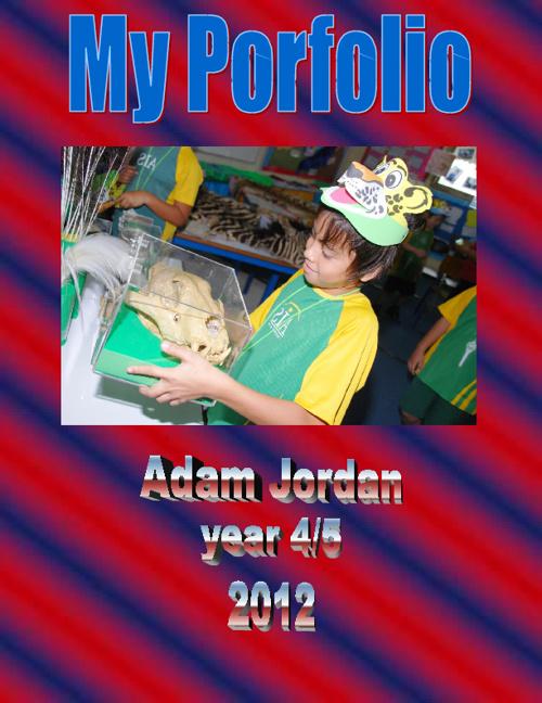 My Portfolio. Adam. Year 4