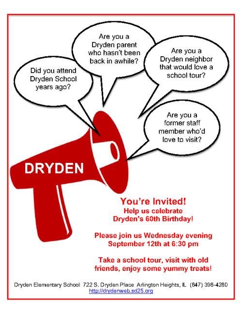 Dryden's 60th Birthday Invitation