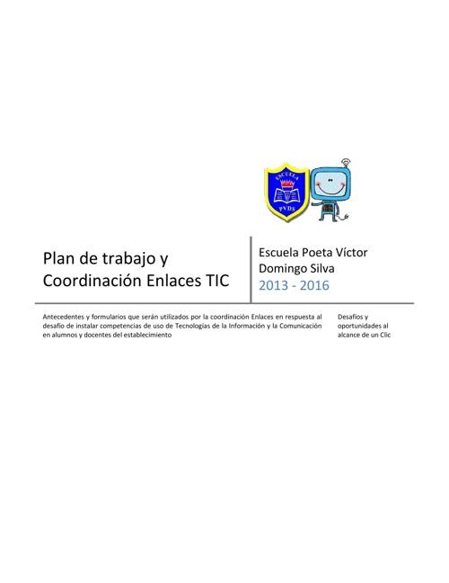 Plan de trabajo cordinación TIC PVDS 29072013