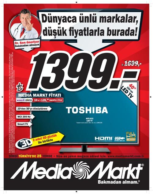 ►Media Markt 21-23 Mart İndirim Günleri Kataloğu