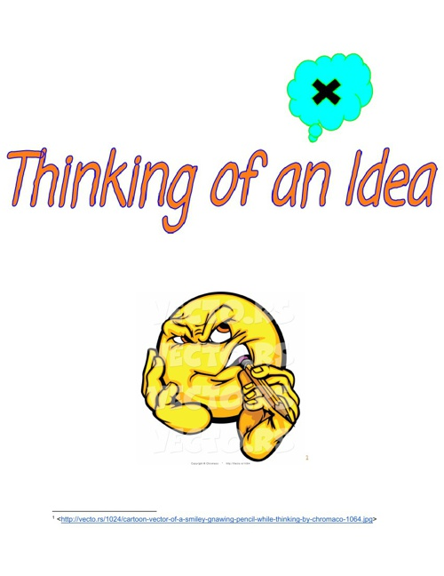 Thinking of an Idea