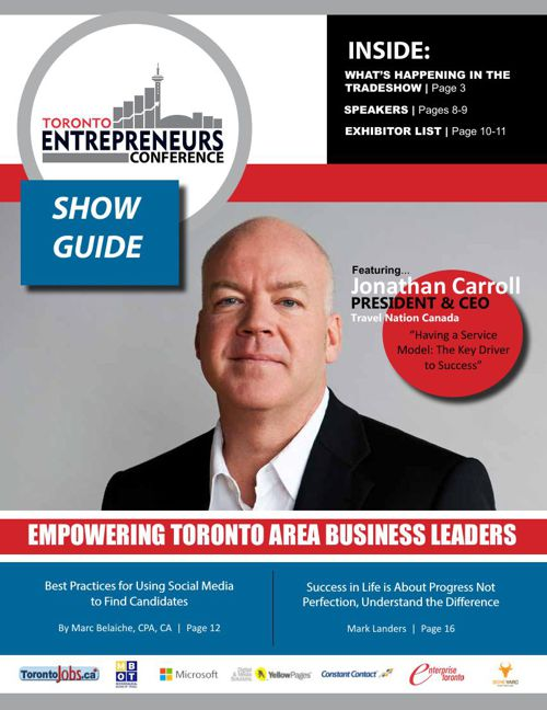 2015 Toronto Entrepreneurs Conference & Tradeshow Show Guide