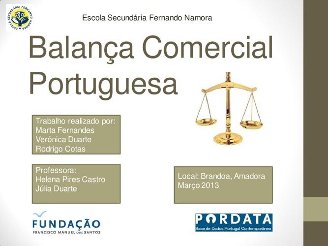 Balança Comercial Portuguesa