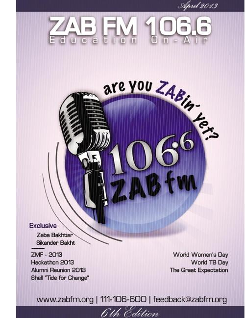 6th SZAB FM 106.6 Newsletter