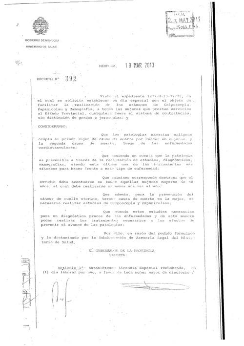 Decreto 392 - Ampliación de Derechos DGE