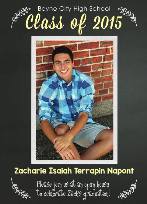 Zacharie Napont Graduation Invitation - June 14, 2015