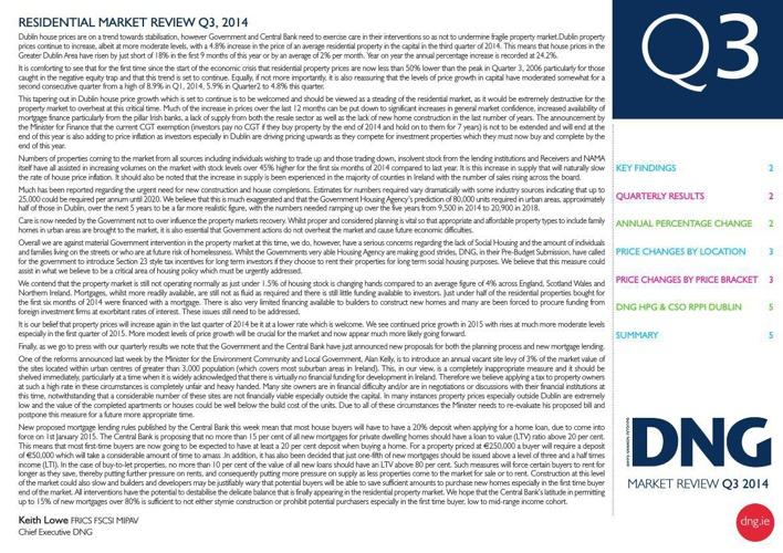 DNG Residential Market Review Q3 2014