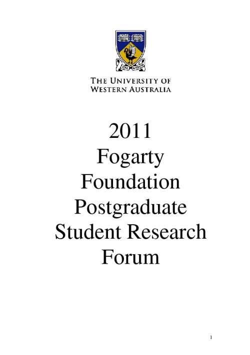 Fogarty Foundation Student Research Forum