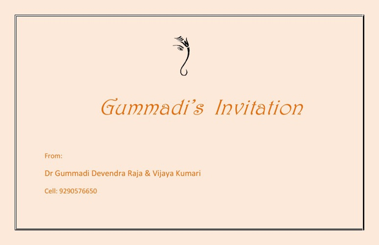 Gummadi's Wedding Invitation