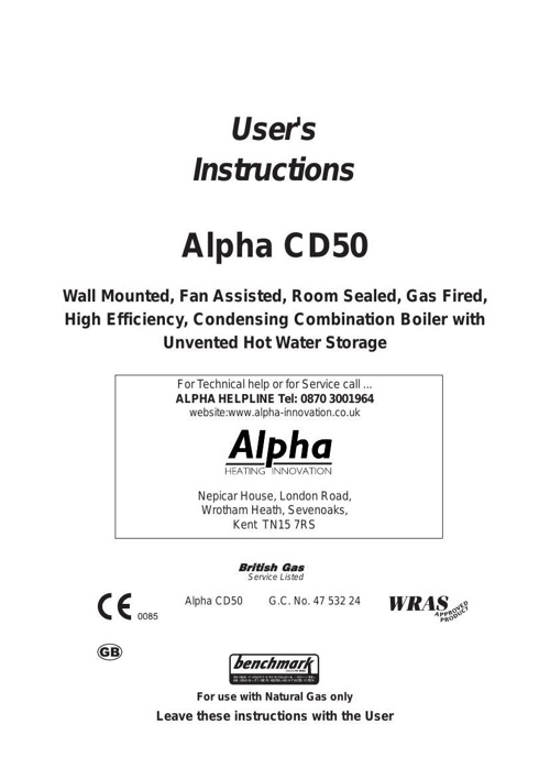 Alpha CD50 User Manual