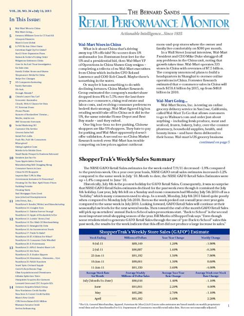 Retail Performance Monitor: Ju