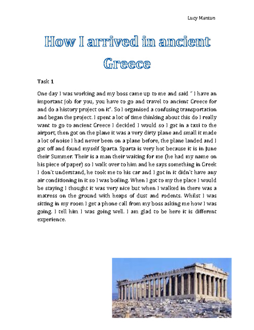 My Experience in Ancient Greece