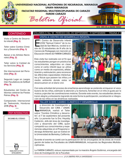 Boletín Oficial (Vol3. Núm.18)