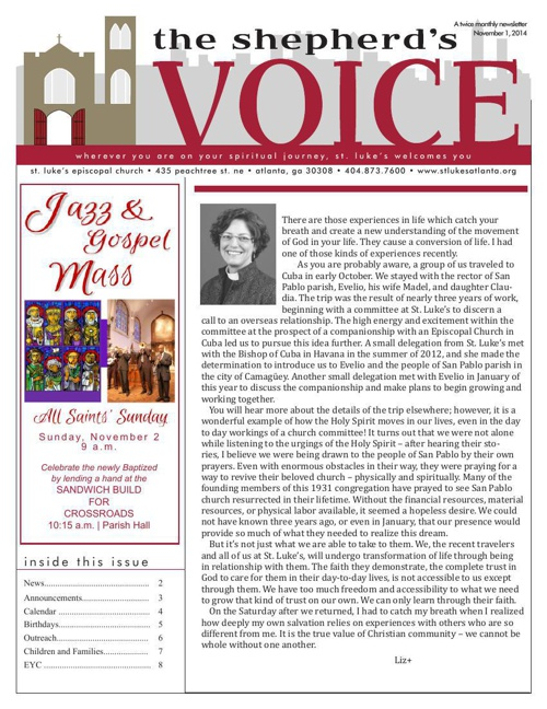 Shepherd's Voice Nov. 1  2014