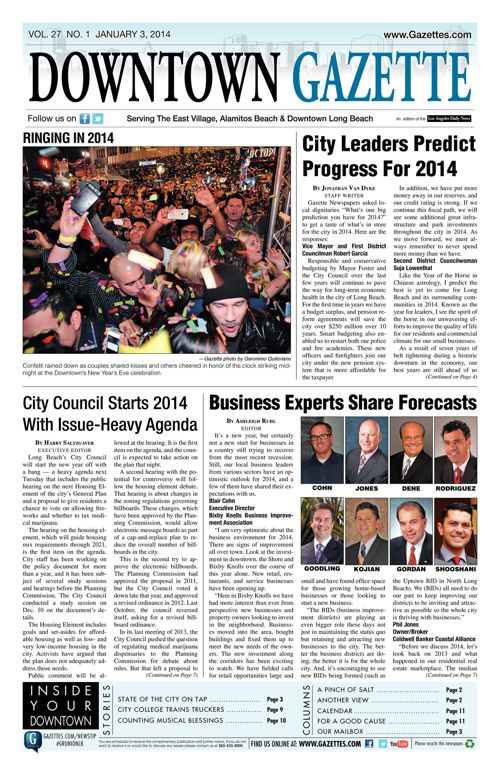 Downtown Gazette  |  January 3, 2014